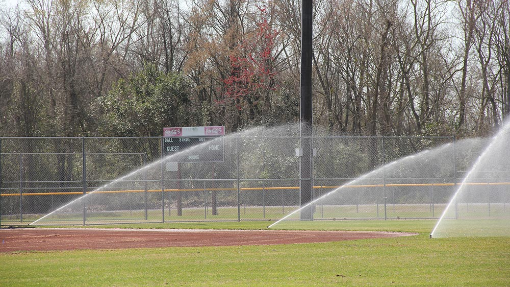 Picture of baton rouge irrigation on baseball field